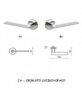 1/2 MANIGLIA OPEN CROMO+CROMO OPACO