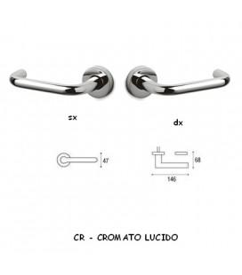 1/2 MANIGLIA CHIARA CROMATO LUCIDO