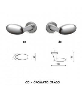 1/2 MANIGLIA BLINDO CROMATO OPACO