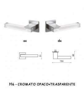 1/2 MANIGLIA ICE CROMATO OPACO