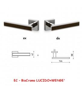 1/2 MANIGLIA EDGE BioCromo LUCIDO+WENGE'
