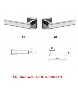 1/2 MANIGLIA EDGE BioCromo LUCIDO+CORIAN