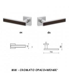 1/2 MANIGLIA EDGE CROMATO OPACO+WENGE'
