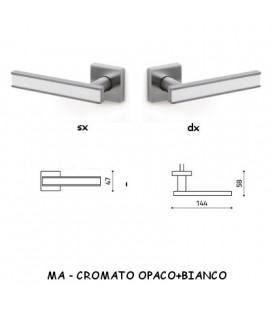 1/2 MANIGLIA EDGE CROMATO OPACO+BIANCO