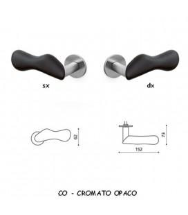 1/2 MANIGLIA CHELSEA CROMATO OPACO+NERO