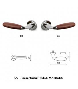 1/2 MANIGLIA CLUB SuperNichel+MARRONE