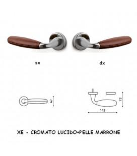 1/2 MANIGLIA CLUB CROMATO+MARRONE