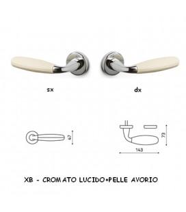 1/2 MANIGLIA CLUB CROMATO+AVORIO