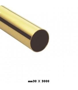 TUBO 30x3000 OTTONE LUCIDO