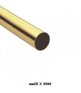 TUBO 25x3000 OTTONE LUCIDO