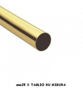 TUBO 25x1000 OTTONE LUCIDO