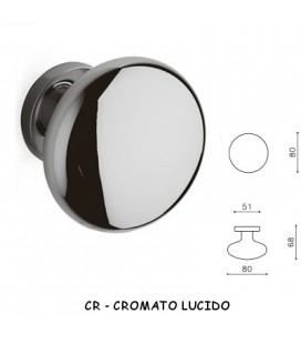 POMOLO FISSO EDISON 80 CROMO LUCIDO