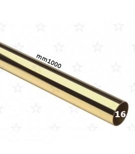 TUBO 16x1000 OTTONE LUCIDO