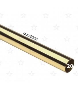 TUBO 20x3000 OTTONE LUCIDO