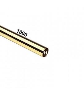 TUBO 11x1000 OTTONE LUCIDO
