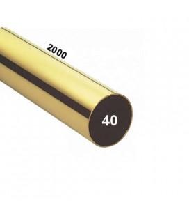 TUBO 40x2000 OTTONE LUCIDO