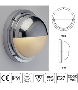 LAMPADA C/SCHERMO CROMO